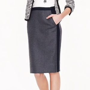 J.Crew Factory Tipped Double Serge Pencil Skirt